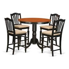 breakfast table and chairs high top bar table set round wood dining table dinner room table set
