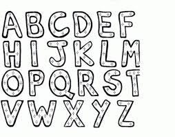 Letter S Coloring Pages Valid Alphabet Letters Page Block Free