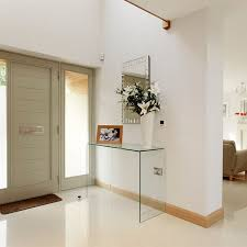 Large Curved Glass Console Table (W:100cm x D:33cm x H:76cm)  In Stock