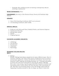 Resume For National Honor Society Recommendation Letter For The
