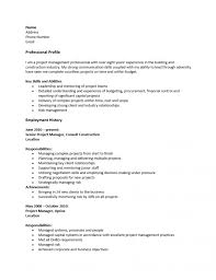 Free Project Management Construction Software Manager Resume