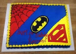 superhero sheet cake sheet cake with super symbols batman spider man superman kids