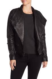 image of vince lamb leather moto jacket