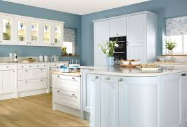 Blue Kitchen Walls With White Cabinets Best Mattress Kitchen Ideas