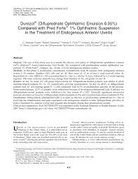 efficacy and safety of rimexolone 1 ophthalmic suspension vs 1 prednisolone acetate in the treatment of uveitis request pdf