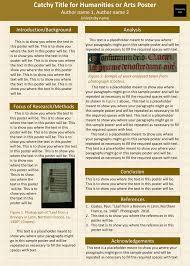Tips For Poster Presentations - Undergraduate Research Guide - Mru ...