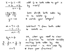 solving one step equations basic