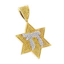 chai yellow diamond star of david pendant 075ct p 44213 ye jpg