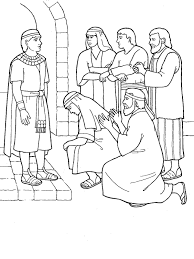 Joseph And His Coat Of Many Colors Coloring Page Forgives Brothers