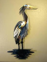 wall arts heron wall art arts gallery of great blue full size outdoor metal