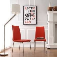 inspire q matilda hot red retro modern dining chair set of 2 131 99 for