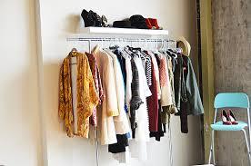 garment racks and floating shelves 1 comment