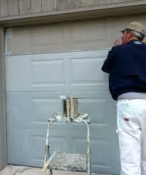 painting steel garage door painting a metal garage door with roller home painting galvanised steel garage