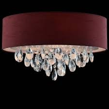 Roodwitzwarte Stof Inbouw Plafondlamp Laag Plafond Kroonluchter Kristal Plafond Verlichting Voor Thuisslaapkamerkeuken Buy Laag Plafond