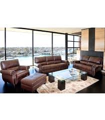 Living Room Leather Sets Living Room Sets Lorenzo 4 Piece Leather Set