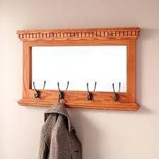 Wooden Coat Rack Wall Mounted Shelf Mercer With Umbrella Holder Wood Racks  Standing.