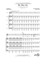 mr blue sky piano sheet music free download mr blue sky from nbcs the sing off sheet music by