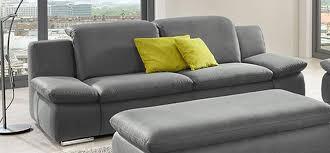 Sofa Microfaser Lederoptik Sofa La Isla Grau 3 Sitzer Couch