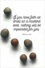 If You Have Faith As Small As A Mustard Seed Matthew Bible