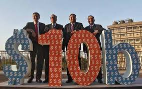 tata consultancy services executives celebrate the magical 10 billion mark in its turnover