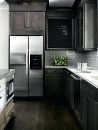 black cabinets white countertops kitchen light oak cabinet dark grey and glossy combination of flooring