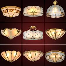 get ations european retro bedroom lamp led lights all copper copper copper lamps living room ceiling light fixtures