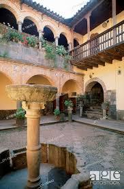 peru cuzco patio spanish colonial