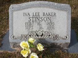 Iva Lee Baker Stinson (1895-1991) - Find A Grave Memorial