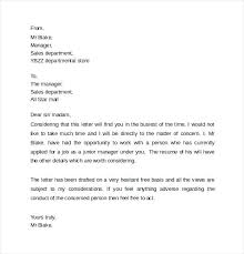 Letters Of Recommendation For Jobs Template Sample Personal Recommendation Letter For Employment Of