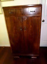 vintage antique furniture wardrobe walnut armoire. vintage art deco style walnut wardrobe antique furniture armoire