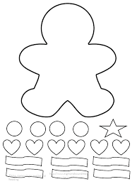 Coloring Page Gingerbread Man Pages Free Printable Characters Color