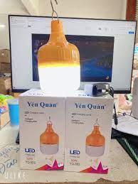 Bóng đèn Led 50W sạc tích điện Yến Quân YQ-802 có móc treo không dây thông  minh 3 chế độ sáng - GIA DỤNG 3 MIỀN