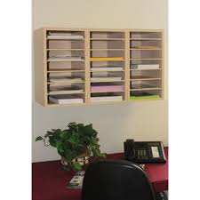 wall mounted office organizer. Mailroom Furniture And Office Organizers 21 Pocket Wood Sorter/Office Organizer (Shown Wall Mounted) Mounted O