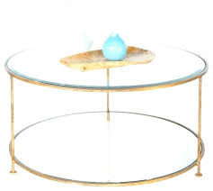 circular glass coffee table circle glass coffee table coffee table worlds away gold leaf iron round