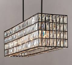 rectangular chandelier flush mount