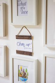 make your own hanging frames by going home to roost 1
