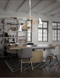 Bedroom With No Light Personality Wooden Double Heads Pendant Lamps Telescopic