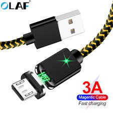 <b>OLAF 3A Magnetic</b> Cable For iPhone X 8 7 Micro USB Type C Cable ...