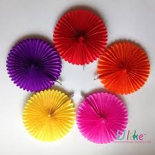 Chart Paper Flower Making 10 20ps Lot Party Flowers Party Favor Birthday Decor Fan Wedding