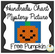 Free Pumpkin Math Hundreds Chart Picture