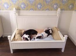 Four poster dog bed - built to hold a baby crib mattress.