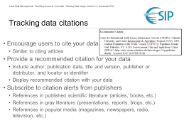 Providing Access to Your Data: Tracking Data Usage Robert R. Downs ...