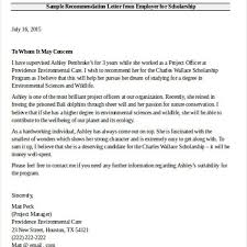sample recommendation letter for scholarship from employer scholarship recommendation letter from employer avibrand