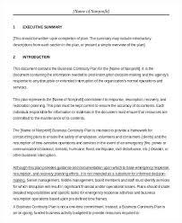 Operation Plan Outline Sample Restaurant Business Plan Template