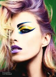 punk inspired makeup anja rubik by miguel reveriego for numéro