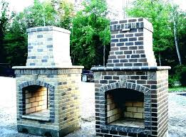 outdoor brick fireplace s cost design plans outdoor brick fireplace s cost design plans