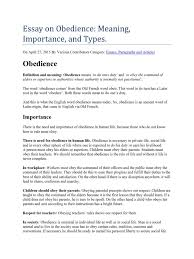 essay on obedience obedience human behavior norm social