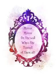 Mirror Mirror On The Wall Quote Custom Snow White Quote ART PRINT Illustration Mirror Mirror On The Etsy