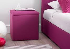Purple Bedroom Furniture. Portofino Bedside Storage Cube   Pink Purple  Bedroom Furniture