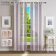 Striped Living Room Curtains Sheer Striped Curtains Promotion Shop For Promotional Sheer